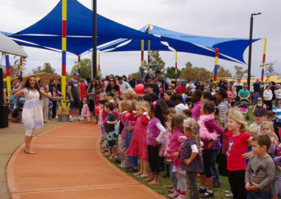 BHP Billiton's Miners' Promise Playground opening in Newman