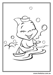 Fin the Baby Shark Bathtime Colour In
