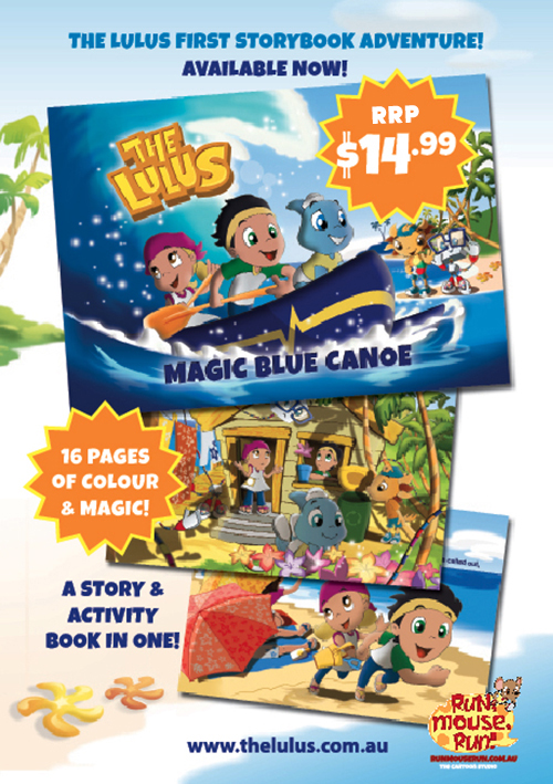 Magic Blue Canoe The Lulus Children's Book